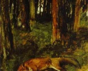 Мёртвая лиса в подлеске — Эдгар Дега