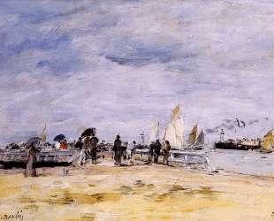 Deauville, the Jetty — Эжен Буден