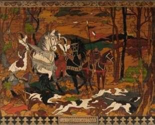 Преследование оленя — Иван Билибин