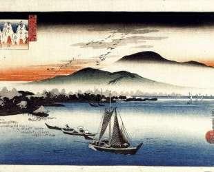 Descending Geese, Katata — Хиросиге