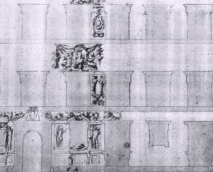 Design for the facade of Palazzo Ramirez de Montalvo — Джорджо Вазари