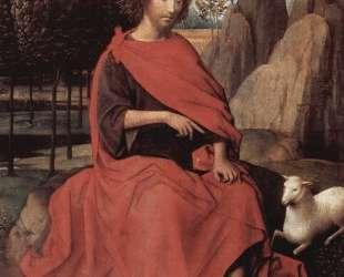 Диптих Иоанна Крестителя и Св. Вероники (Иоанн Креститель, левое крыло) — Ганс Мемлинг