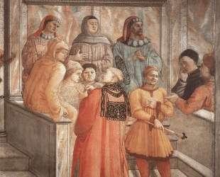 Disputation in the Synagogue (detail) — Филиппо Липпи