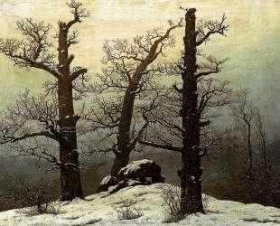 Dolmen in snow — Каспар Давид Фридрих
