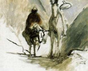 Дон Кихот, Санчо Панса и мёртвый мул — Оноре Домье