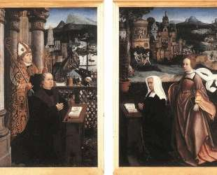 Donor with St. Nicholas and his Wife with St. Godelina — Ян Провост