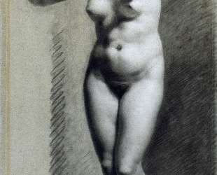 Drawing of Female Nude with charcoal and chalk — Пьер Поль Прюдон