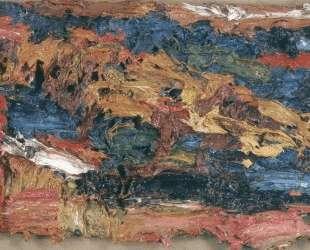E. O.W. на синем покрывале III — Франк Ауэрбах