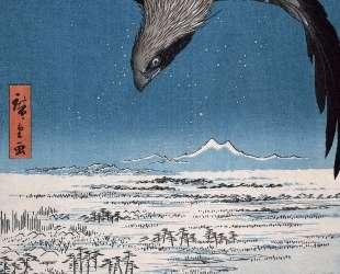 Eagle Over 100,000 Acre Plain at Susaki, Fukagawa (Juman-tsubo) — Хиросиге