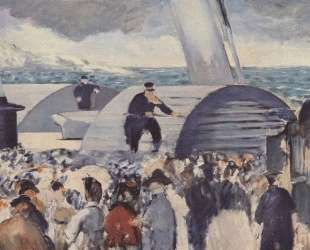 Embarkation after Folkestone — Эдуард Мане