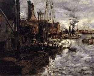 End of the Pier, New York Harbor — Джон Генри Твахтман (Tуоктмен)