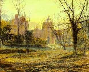 Evening, Knostrop Old Hall — Джон Эткинсон Гримшоу