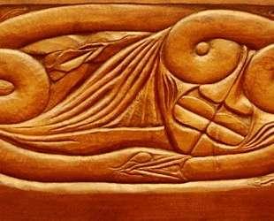 Existence, wooden bed panel — Жорж Лякомб