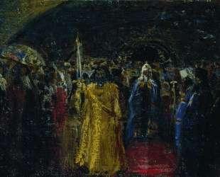 Выход патриарха Гермогена — Илья Репин