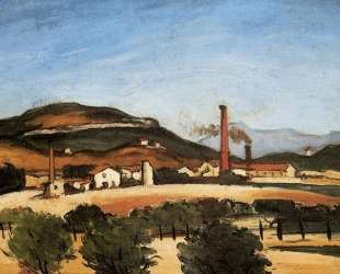 Factories Near Mont de Cengle — Поль Сезанн