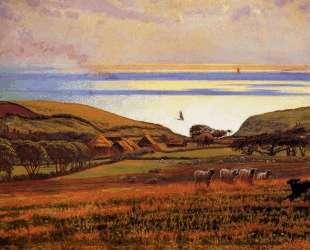 Fairlight Downs, Sunlight on the Sea — Уильям Холман Хант