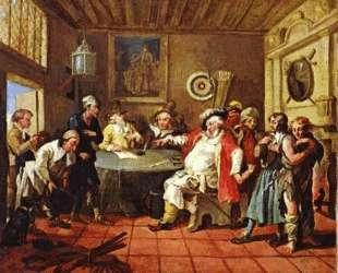 Falstaff Examining His Recruits — Уильям Хогарт
