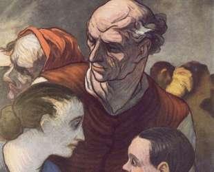 Семья на баррикадах — Оноре Домье
