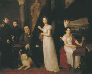 Family portrait of counts Morkovs — Василий Тропинин