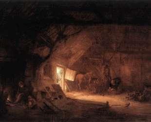 Farmhouse Interior — Исаак ван Остаде