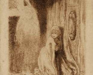Faust. Margaret in the Church — Данте Габриэль Россетти