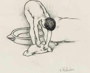 Female Nude, washing herself — Сюзанна Валадон
