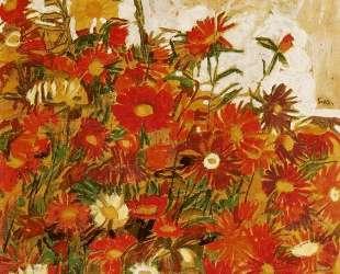 Field of Flowers — Эгон Шиле
