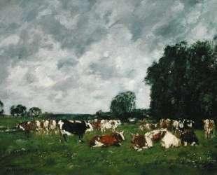 Fields in Fervaques — Эжен Буден
