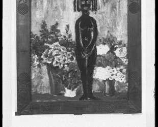 Figure with flowers — Эмиль Нольде
