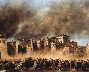Fire in the Oil Depot at San Marcuola — Франческо Гварди