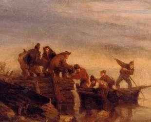 Fishermen by the Water — Эжен Буден