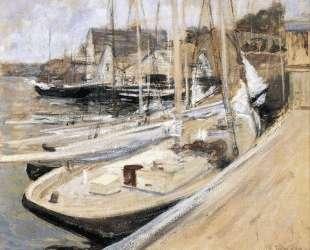 Fishing Boats at Gloucester — Джон Генри Твахтман (Tуоктмен)