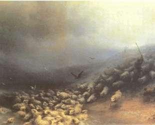 Стадо овец в бурю — Иван Айвазовский