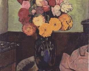 Flower vase on a round table — Сюзанна Валадон