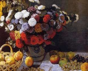 Цветы и фрукты — Клод Моне