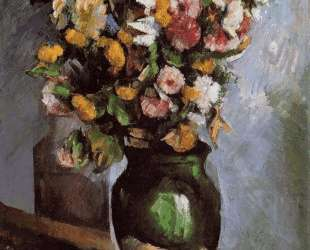 Flowers in an Olive Jar — Поль Сезанн