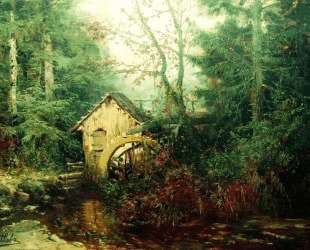 Forest Landscape with Watermill — Ефим Волков