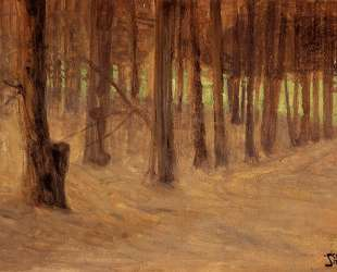 Forest with Sunlit Clearing in the Background — Эгон Шиле