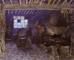 Forge at Marly le Roi — Альфред Сислей