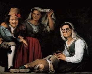 Four Figures on a Step — Бартоломе Эстебан Мурильо