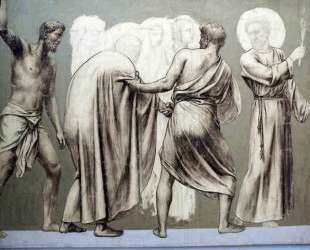 Fresco for the decoration of the Pantheon: saints — Пьер Пюви де Шаванн