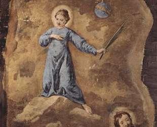 Фреска церкви Сан-Панталон в Венеции. Сцена: Святой Мученик, фрагмент. — Пьетро Лонги