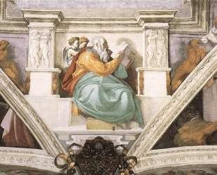Frescoes above the entrance wall — Микеланджело