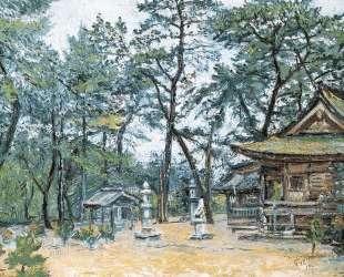 Ворота храма в Японии — Давид Бурлюк