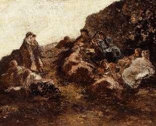 Gathering of Elegant Women — Адольф Жозеф Тома Монтичелли