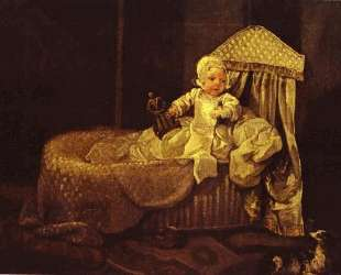 Gerard Anne Edwards in His Cradle — Уильям Хогарт