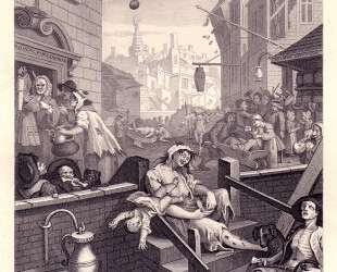 Gin Lane — Уильям Хогарт