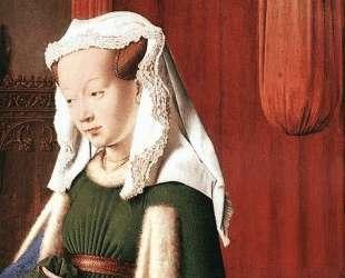 Джованни Арнольфини с женой Джованной Ченами (Портрет четы Арнольфини, деталь) — Ян ван Эйк