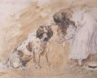 Girl and St. Bernard Dog — Филип Уилсон Стэр
