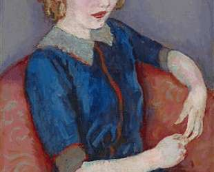 Girl at a red sofa — Ян Слёйтерс